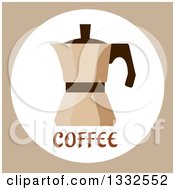 Clipart Of A Flat Design Coffee Percolator Royalty Free Vector Illustration