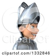 Clipart Of A 3d Caucasian Male Armored Knight Avatar Facing Right Royalty Free Illustration by Julos