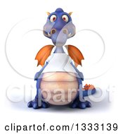 Clipart Of A 3d Casual Purple Dragon Wearing A T Shirt 2 Royalty Free Illustration by Julos