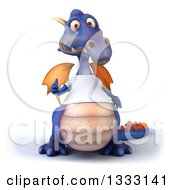 Clipart Of A 3d Casual Purple Dragon Giving A Thumb Up And Wearing A T Shirt Royalty Free Illustration