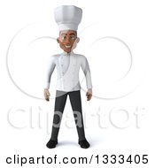 Clipart Of A 3d Young Black Male Chef Royalty Free Illustration by Julos