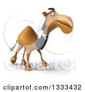 Clipart Of A 3d Arabian Business Camel Facing Right 2 Royalty Free Illustration by Julos