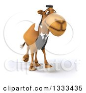 Clipart Of A 3d Arabian Business Camel Facing Right Royalty Free Illustration by Julos