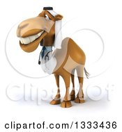 Clipart Of A 3d Arabian Doctor Camel Facing Slightly Left 2 Royalty Free Illustration