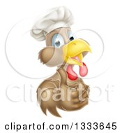 Poster, Art Print Of Happy Brown Chef Chicken Giving A Thumb Up 2