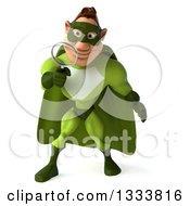 Clipart Of A 3d Caucasian Green Super Hero Man Searching With A Magnifying Glass Royalty Free Illustration by Julos