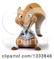 Clipart Of A 3d Doctor Or Veterinarian Squirrel Holding A Book Royalty Free Illustration by Julos