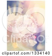 Clipart Of A Blurred Vintage Floral Background With Sample Text 2 Royalty Free Vector Illustration