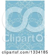 Clipart Of A Seamless Background Pattern Of Diamond Gem Stones Over Blue Royalty Free Vector Illustration