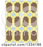 Seamless Geometric Background Pattern Of Diamond Gem Stones