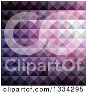Clipart Of A Geometric Background Of 3d Pyramids In Russian Violet Royalty Free Vector Illustration