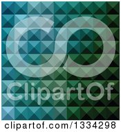 Clipart Of A Geometric Background Of 3d Pyramids In Dark Spring Green Royalty Free Vector Illustration