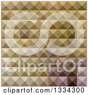 Clipart Of A Geometric Background Of 3d Pyramids In Burlywood Brown Royalty Free Vector Illustration