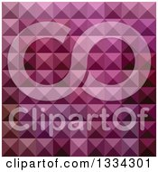 Clipart Of A Geometric Background Of 3d Pyramids In Byzantium Purple Royalty Free Vector Illustration