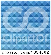 Clipart Of A Geometric Background Of 3d Pyramids In Cornflower Blue Royalty Free Vector Illustration