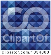 Clipart Of A Geometric Background Of 3d Pyramids In Cobalt Blue Royalty Free Vector Illustration