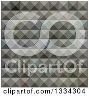 Clipart Of A Geometric Background Of 3d Pyramids In Argent Grey Royalty Free Vector Illustration