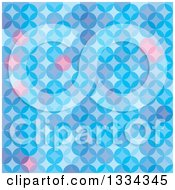 Clipart Of A Blue And Pink Background Of Overlapping Circles Royalty Free Vector Illustration