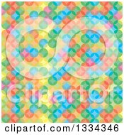 Clipart Of A Colorful Background Of Overlapping Circles Royalty Free Vector Illustration