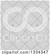 Clipart Of A Retro Seamless Diamond Illusion Background Pattern Royalty Free Vector Illustration
