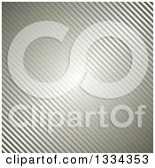 Clipart Of A Diagonal Metallic Stripe Background Royalty Free Vector Illustration