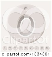 Clipart Of Counter Number Tags Royalty Free Vector Illustration