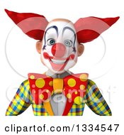 Clipart Of A 3d Funky Clown Avatar Royalty Free Vector Illustration