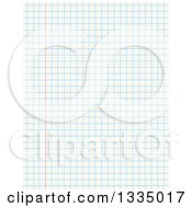 Clipart Of A Sheet Of Math Graph Paper Royalty Free Vector Illustration