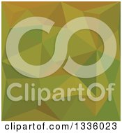 Clipart Of A Low Poly Abstract Geometric Background Of Heart Gold Green Royalty Free Vector Illustration