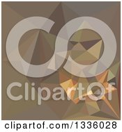 Clipart Of A Low Poly Abstract Geometric Background Of Dark Tan Brown Royalty Free Vector Illustration