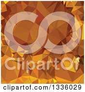 Clipart Of A Low Poly Abstract Geometric Background Of Dark Tangerine Yellow Royalty Free Vector Illustration