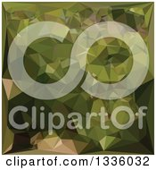 Clipart Of A Low Poly Abstract Geometric Background Of Olive Green Royalty Free Vector Illustration