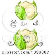 Clipart Of A Cartoon Face Hands And Cauliflowers 3 Royalty Free Vector Illustration