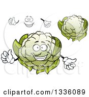 Clipart Of A Cartoon Face Hands And Cauliflowers 2 Royalty Free Vector Illustration