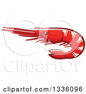 Clipart Of A Cartoon Prawn Shrimp Royalty Free Vector Illustration by Vector Tradition SM