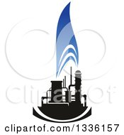 Clipart Of A Black And Blue Natural Gas And Flame Design 17 Royalty Free Vector Illustration