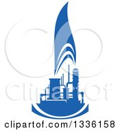 Clipart Of A Blue Natural Gas And Flame Design 16 Royalty Free Vector Illustration