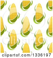 Clipart Of A Seamless Pattern Background Of Corn Royalty Free Vector Illustration