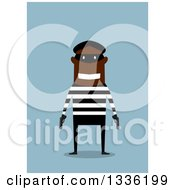 Clipart Of A Flag Design Happy Black Armed Male Robber Royalty Free Vector Illustration