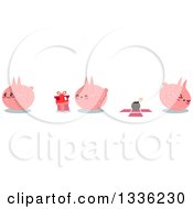 Clipart Of A Pink Monsters With A Bomb In A Box Royalty Free Vector Illustration by Liron Peer