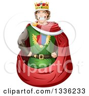 Cartoon Handsome Brunette Young White Male King