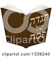 Clipart Of A Jewish Haggadah Of Passover Book Royalty Free Vector Illustration