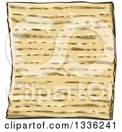 Clipart Of Jewish Passover Matzo Bread Royalty Free Vector Illustration by Liron Peer