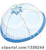 Clipart Of A Jewish Passover Kippah Hat Royalty Free Vector Illustration by Liron Peer