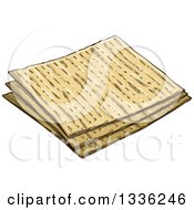 Clipart Of Pieces Of Jewish Passover Matzo Bread Royalty Free Vector Illustration by Liron Peer