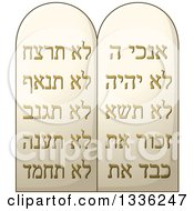Clipart Of A Jewish Passover Stone Ten Commandments Tablets Royalty Free Vector Illustration by Liron Peer