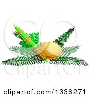 Clipart Of Jewish Rosh Hashana Four Species Royalty Free Vector Illustration