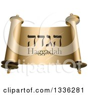 Shiny Open Torah Scroll