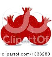 Clipart Of A Rosh Hashanah Pomegranates Royalty Free Vector Illustration