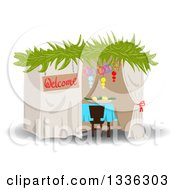 Clipart Of A Jewish Sukkah For Sukkot Royalty Free Vector Illustration